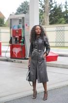 vintage coat - Zara shoes - Carven bag