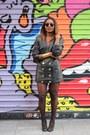 Zara-shoes-leather-vintage-blazer-ray-ban-glasses