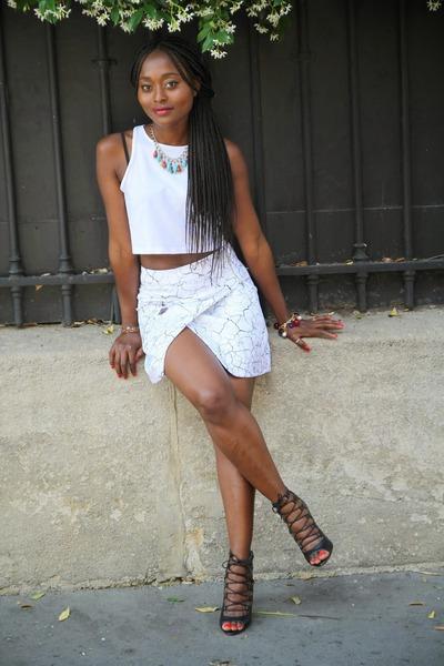 hm skirt - H&M top - Zara heels