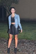 H&M necklace - H&M top - Bershka skirt