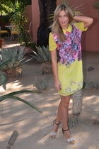 floral Buffalo Exchange dress - JustFab heels - Tiffany & Co watch