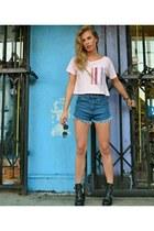 SIC Apparel t-shirt - Topshop boots - denim Zara shorts - CC Skye bracelet