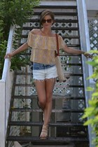 Show Me Your Mumu top - vintage purse - washed out Joa shorts