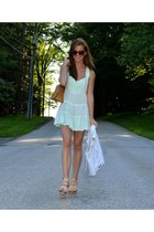 vintage purse - free people dress - Anthropologie sunglasses