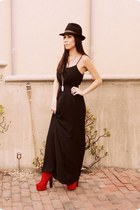GoJane boots - slip Forever21 dress - Forever21 hat