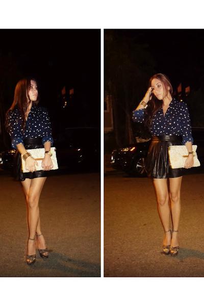 carmen Jeffrey Campbell heels - foreign exchange bag - f21 blouse