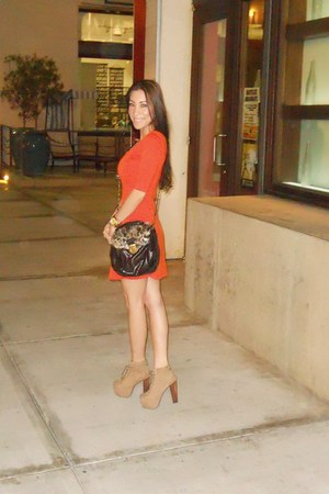 faux fur from marshalls bag - Jeffrey Campbell shoes - f21 dress