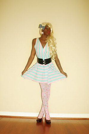 tights tights - bubble gum vintage dress