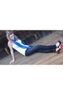 Blue-alexander-mcqueen-scarf-black-william-rast-jeans-white-h-m-top-black-