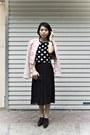 Shoes-black-pleated-skirt-forever-21-dress