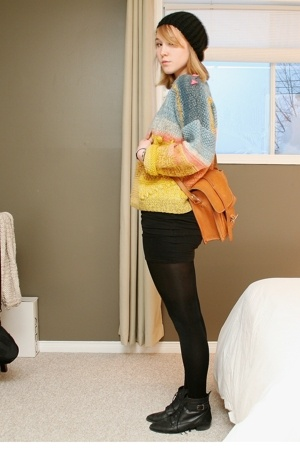 sweater - shirt - tights - shoes