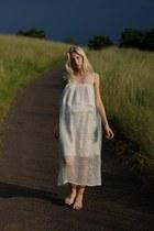 white silk handmade dress