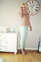 pants - sweater - heels