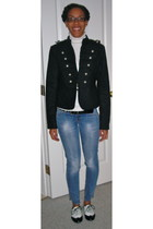 black Mango jeans - Bluenotes jacket