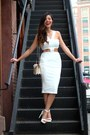 White-cropped-bodycon-missguided-dress-eggshell-buckle-ralph-lauren-bag