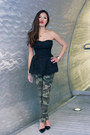 Black-peplum-h-m-top-camo-prints-zara-pants-strap-zara-pumps
