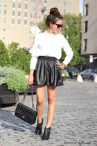black leather skirts asos skirt - black studs Zara boots
