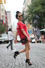 Black-vintage-rachael-ruddick-bag-black-lace-up-zara-sandals-red-topshop-top