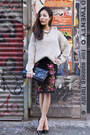 Lace-floral-topshop-skirt-oversized-miu-miu-purse