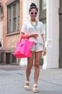 Snake-skin-pink-meli-melo-bag-joes-shorts-mirrored-white-rayban-sunglasses