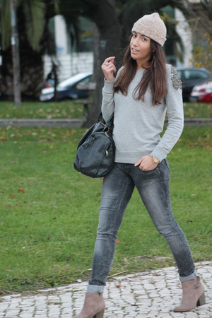 Bershka boots - Mango sweater - Alexander Wang bag