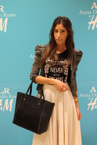 H&M skirt - Mango shoes - Zara jacket - Lefties shirt - Lefties bag