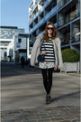 Heather-gray-vila-jacket-black-zara-shirt-black-asos-tights
