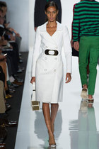 white chic Michael Kors coat - white Michael Kors bag