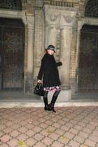 black MUBB boots - black Zara coat - black for men New Yorker hat