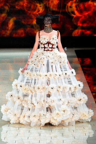eggshell Alexander McQueen dress