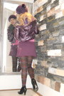 Magenta-hat-black-zara-boots-magenta-sm-accessories-tights