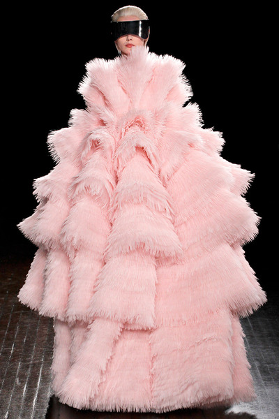 light pink Alexander McQueen coat