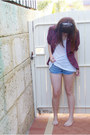 Brick-red-vintage-shirt-sky-blue-sportsgirl-shorts-white-supre-top