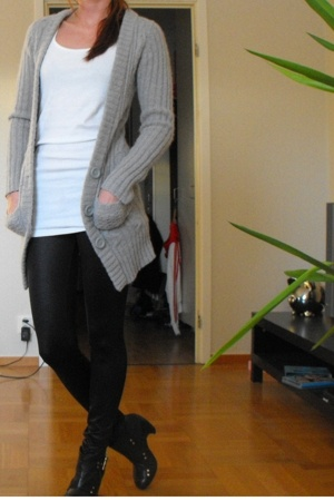 hm sweater - BikBok top - Gina tights - Scorett shoes