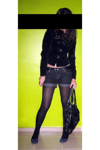 shorts - blazer - belt - purse - shoes