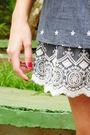 Blue-skirt-beige-top-blue-shoes-brown-belt-beige-bag-beige-accessories