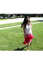 yellow UrbanOG sandals - white Forever 21 shirt