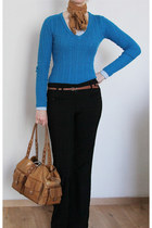 Sabina New York bag - American Eagle sweater - Forever21 belt