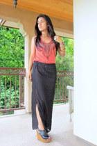 DIY Lisa Summer skirt - Urban Outfitters shirt - Soda wedges
