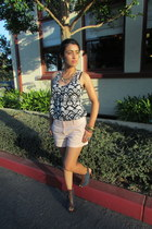 navy Trendy Angel blouse - peach Land N Sea shorts