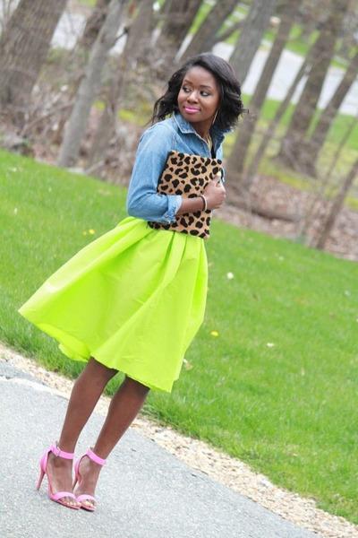 yellow Sheinside skirt