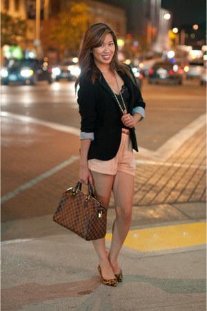 black Forever 21 blazer - mustard cheetah print Dolce Vita shoes