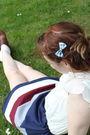 Beige-topshop-blouse-brown-chloe-shoes-blue-handmade-skirt