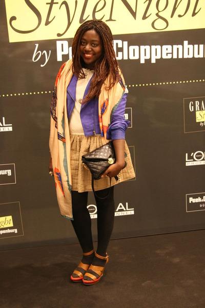 Zara scarf - H&M Trend dress - TK Maxx bag - Zara sandals