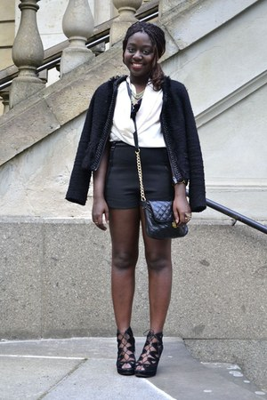 black jacket New Yorker blazer - black quilted TK Maxx bag