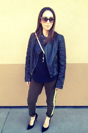 Chanel sunglasses - Boutique 9 shoes - Hudson jeans - Motel jacket