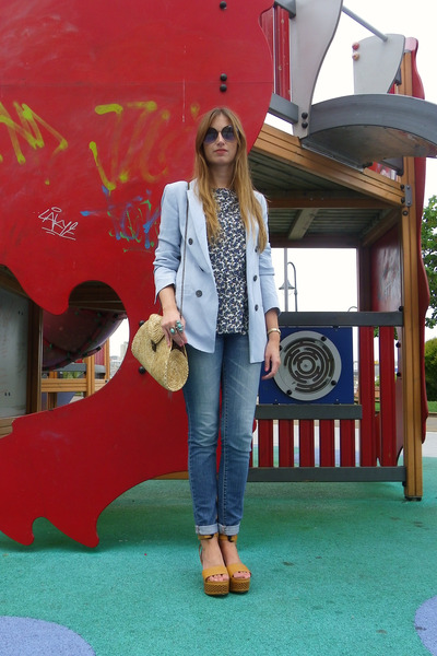 Zara blazer - H&M jeans - Marc by Marc Jacobs sunglasses - Zara top