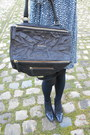 Blue-zara-dress-black-leather-givenchy-bag