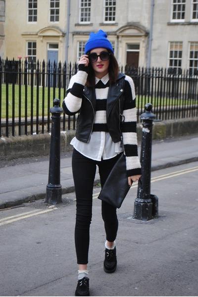 new look jumper - Topshop jeans - Ebay hat
