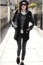 Ebay coat - Ebay hat - H&M leggings - Urban Outfitters sunglasses